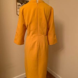Eloquii Dresses - Lovely golden color work dress with tie.